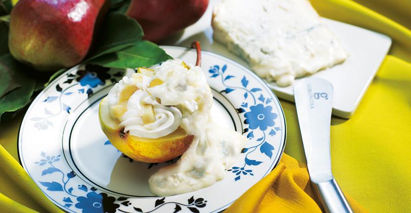 Semifreddo con pera e Gorgonzola