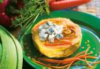 Tortino di carote e Gorgonzola