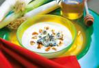 Zuppa Porri Patate e Gorgonzola