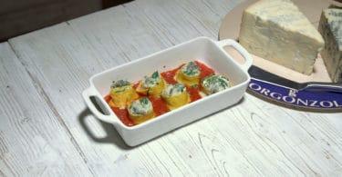Crepes tricolori al Gorgonzola